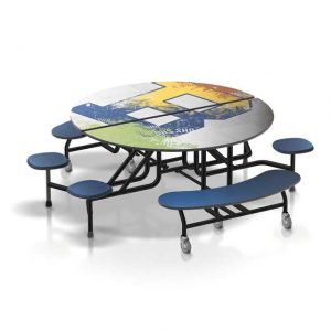 round stool table